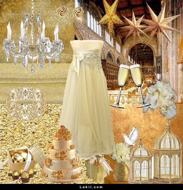 Entrancing White and Gold Wedding Theme.