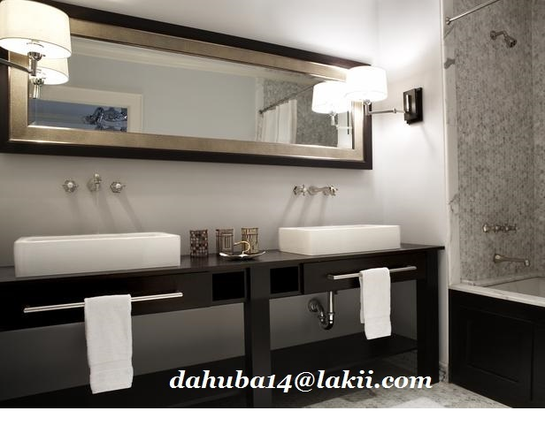 2014 for Black tan and white bathroom decor